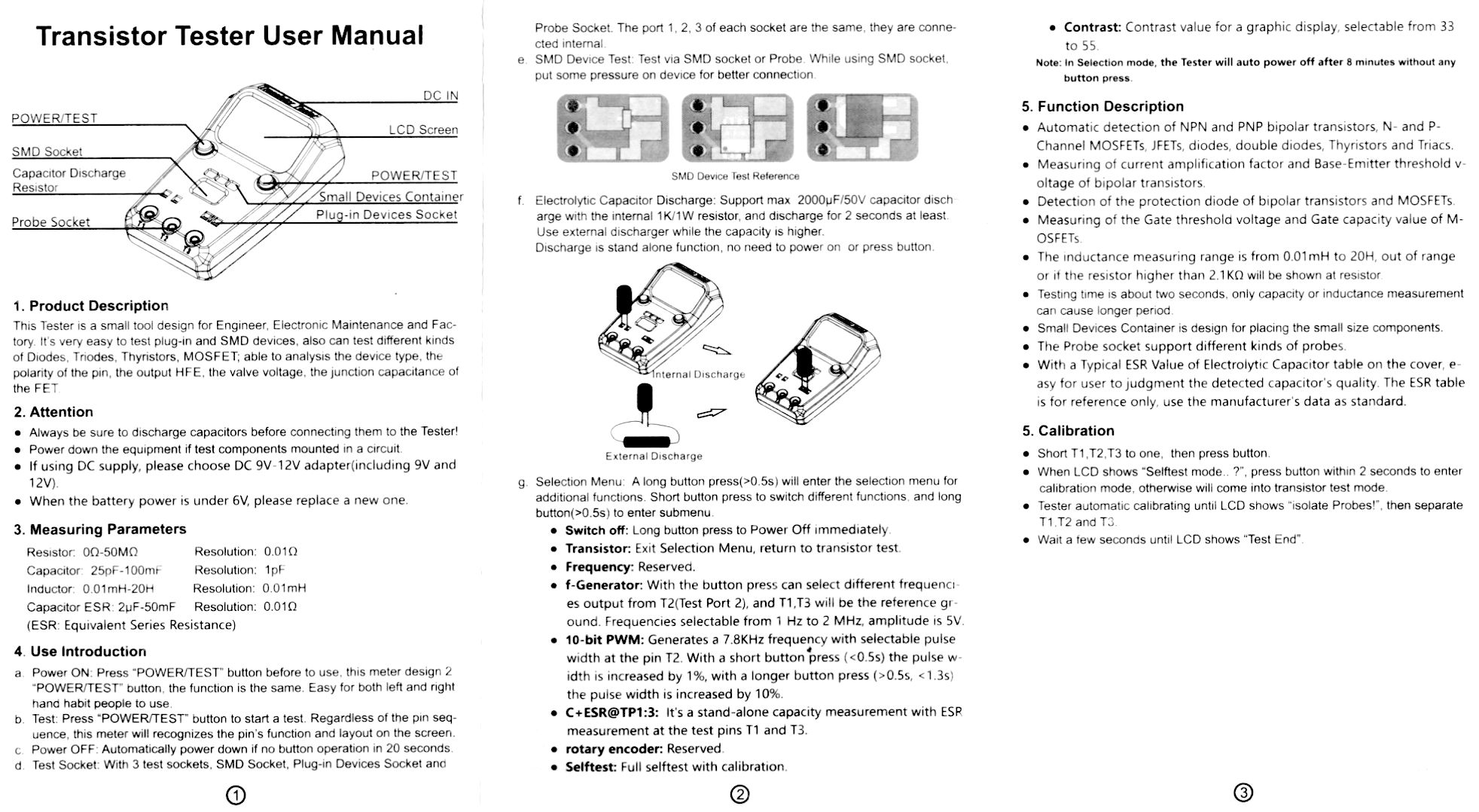 Bside Esr02 Pro Transistor Tester Teardown Quick Test Page 1 Testing Capacitors In Circuit Dont Turn It On Take Apart